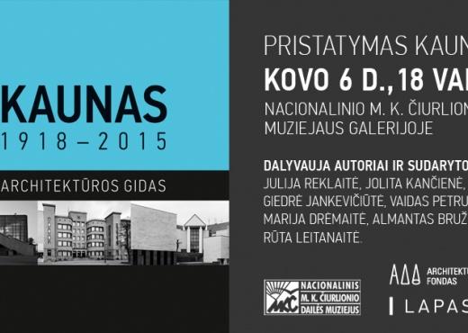 Kauno architektūros gido pristatymas Kaune-2015-03-06