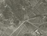 Ištrauka iš žvalgybinės 1944-07-09 aerofotografijos. LCVA skaitmenintų aerofotofgafijų  kolekcija iš JAV nacionalinio archyvo National Archives and Records Administration (NARA), GX 766 B SD